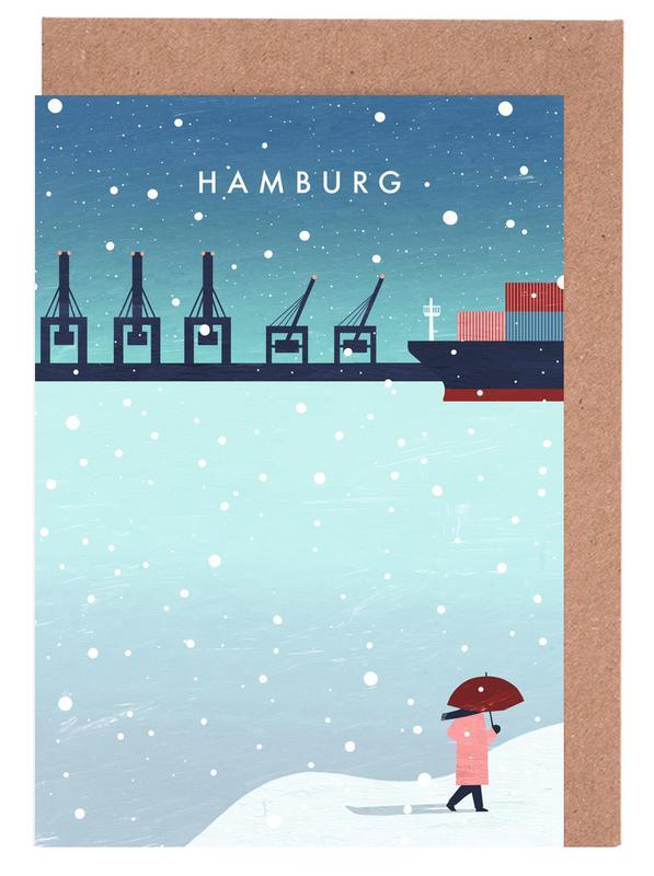 Hamburg Im Winter -Grußkarten-Set