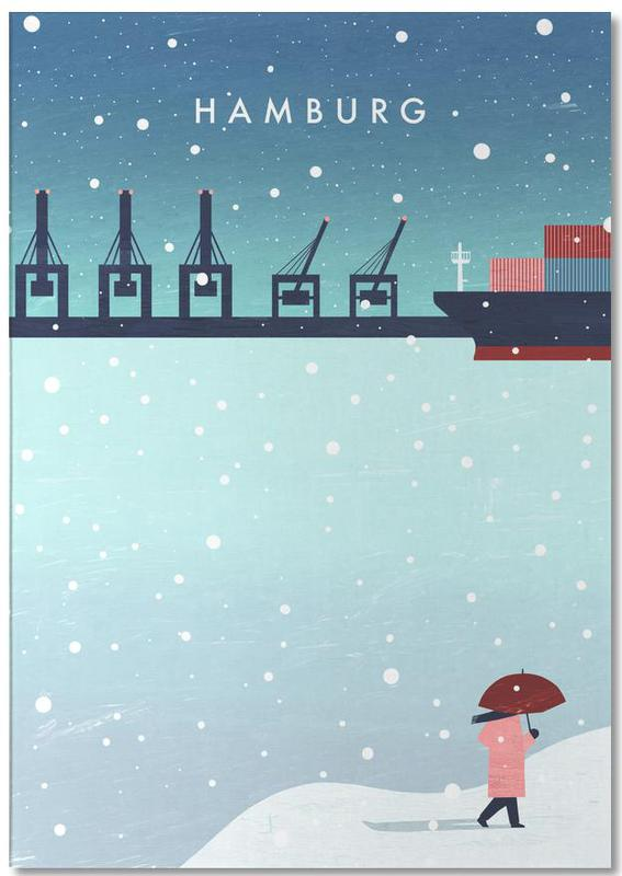 Hamburg Im Winter -Notizblock