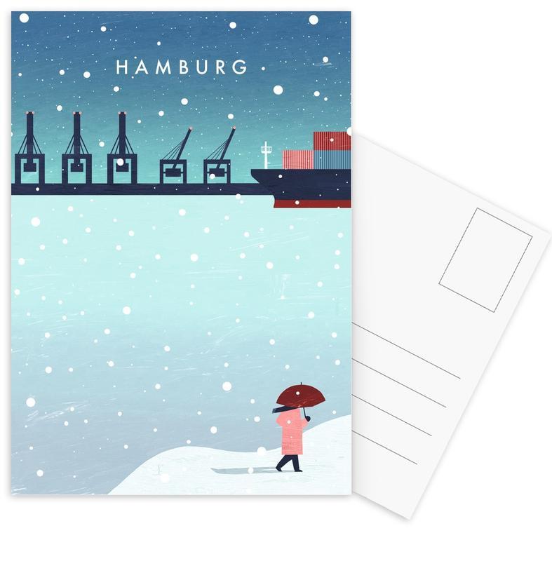 Hamburg Im Winter -Postkartenset