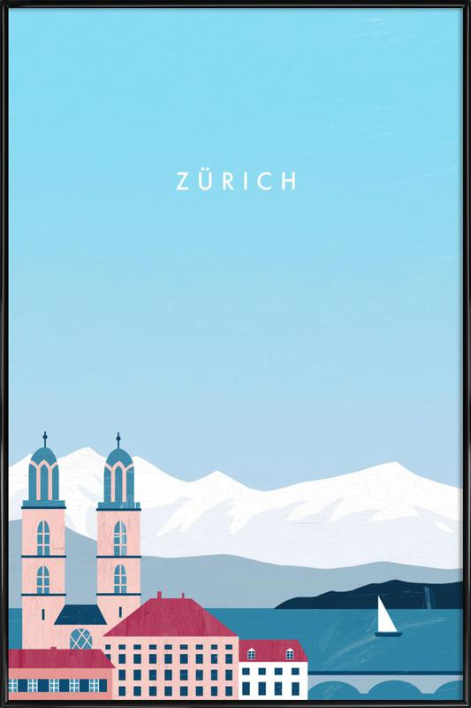 Zürich Framed Poster