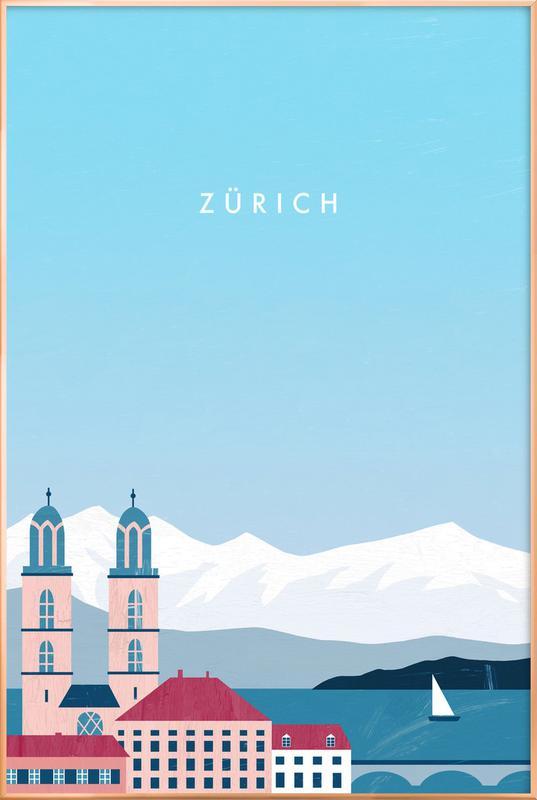 Zürich -Poster im Alurahmen