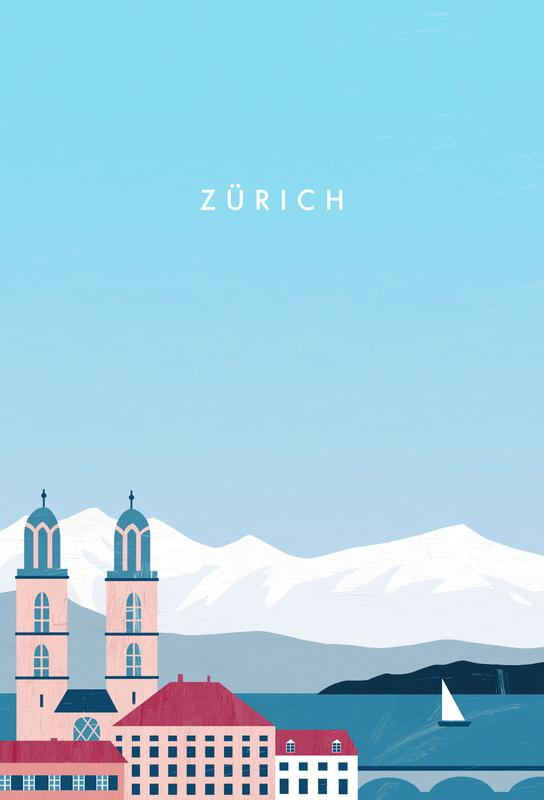 Zürich acrylglas print