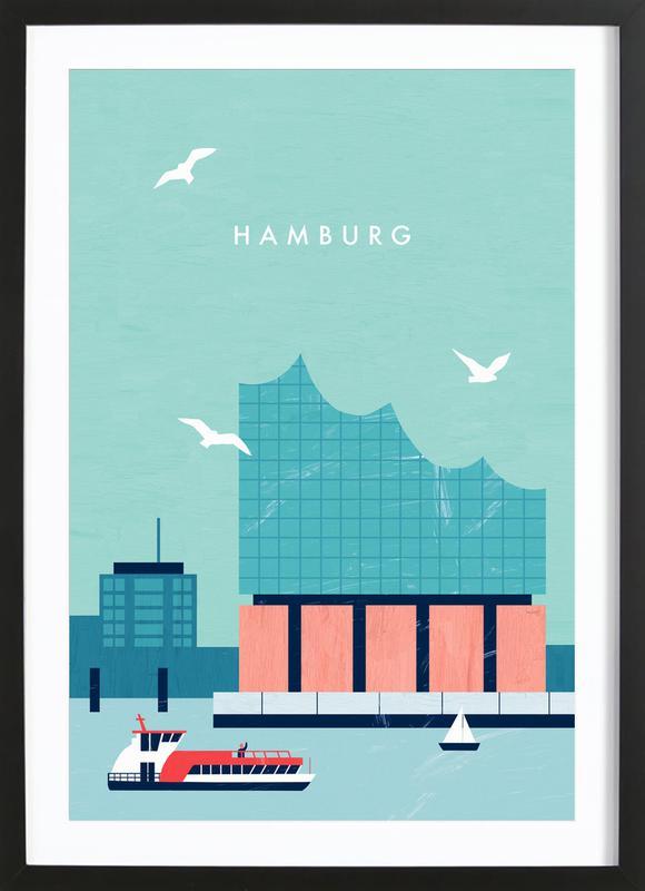 Hamburg Elbphilharmonie -Bild mit Holzrahmen