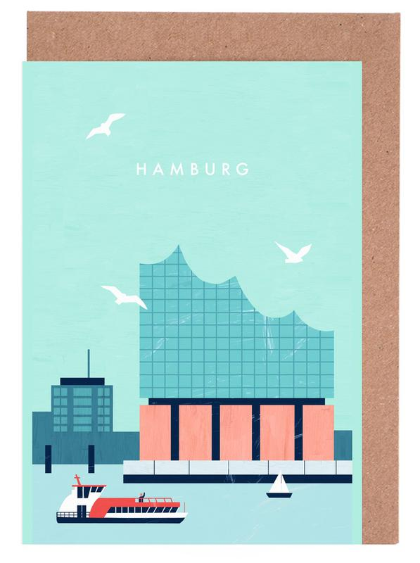 Hamburg Elbphilharmonie -Grußkarten-Set