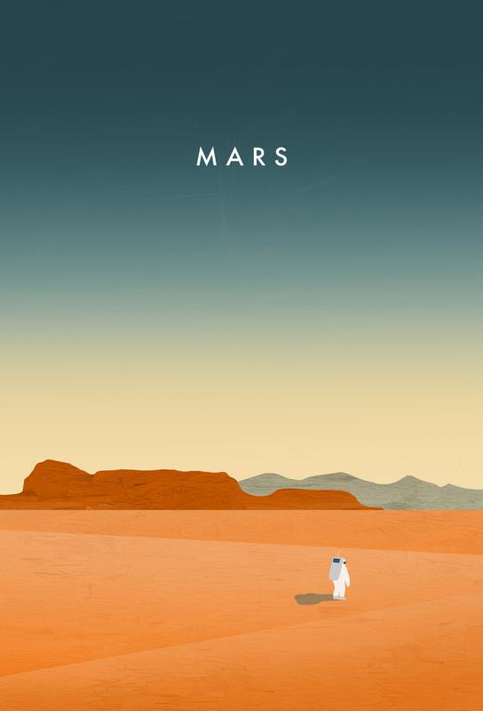 Mars -Acrylglasbild