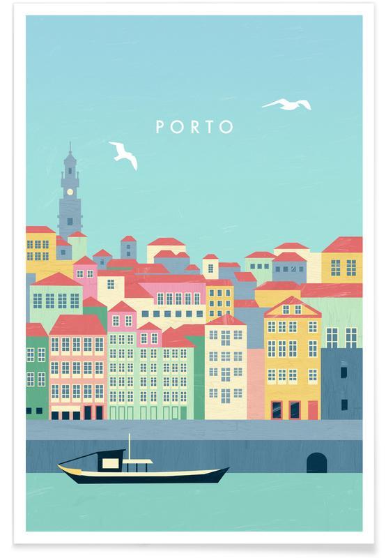 Travel, Vintage Travel, Retro Porto Poster