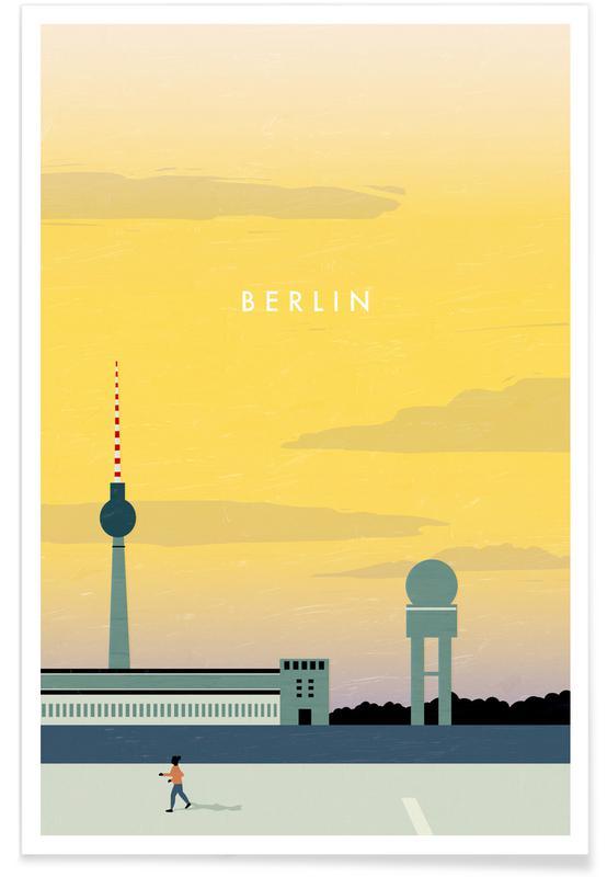 Voyages, Vintage voyage, Berlin - Rétro affiche