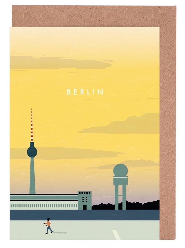 Travel, Vintage Travel, Berlin Icons Greeting Card Set