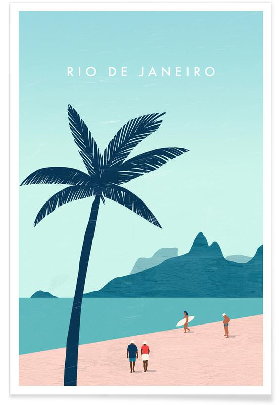 Rio De Janeiro - Rétro affiche