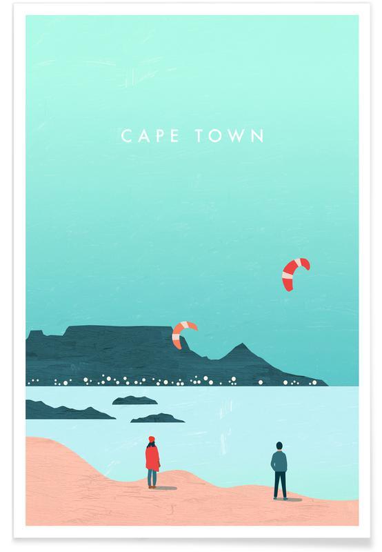 Travel, Vintage Travel, Retro Cape Town Poster