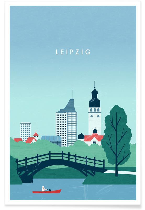 Reizen, Vintage reis, Leipzig poster