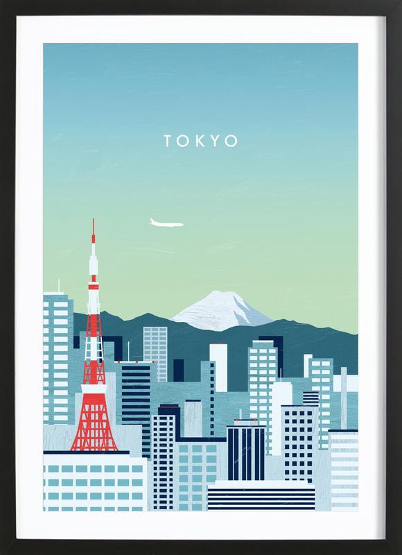 Tokyo -Bild mit Holzrahmen