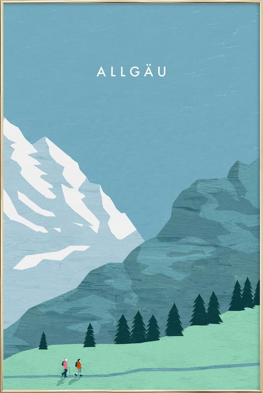 Allgäu -Poster im Alurahmen