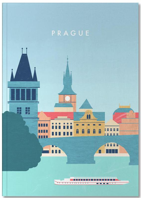 Travel, Vintage Travel, Prague Notebook