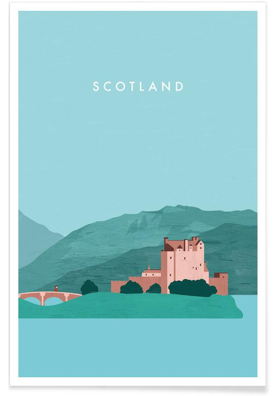 Vintage reis, Scotland poster