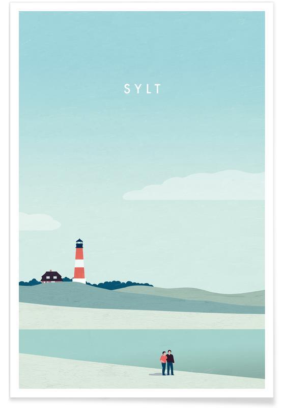 Vintage voyage, Voyages, Sylt affiche