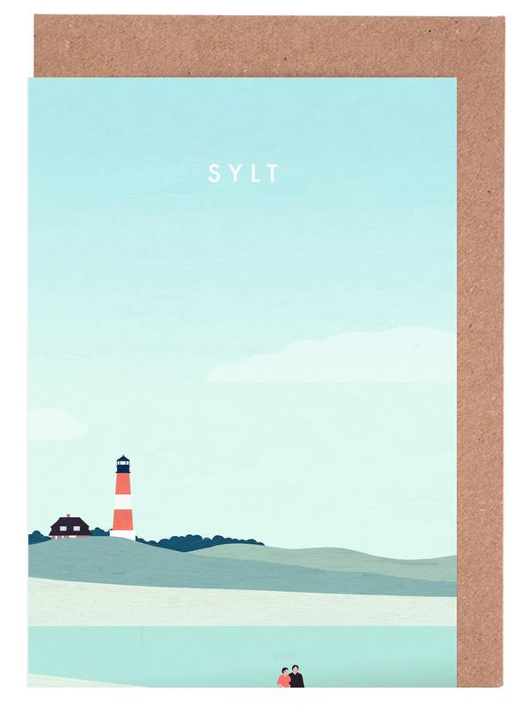 Vintage Reise, Reise, Sylt -Grußkarten-Set