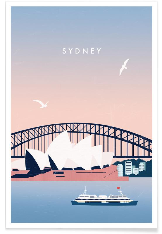 Vintage Travel, Travel, Sydney Poster