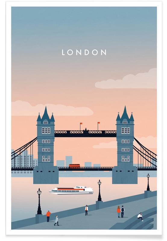 Vintage voyage, Voyages, London affiche