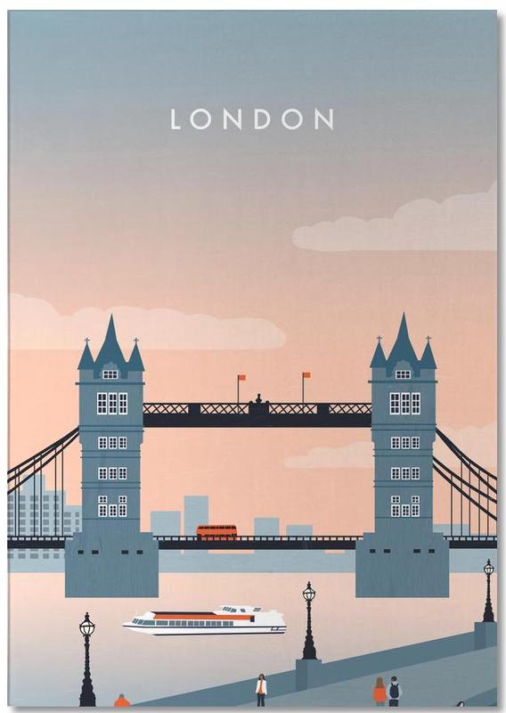 Vintage Travel, Travel, London Notepad