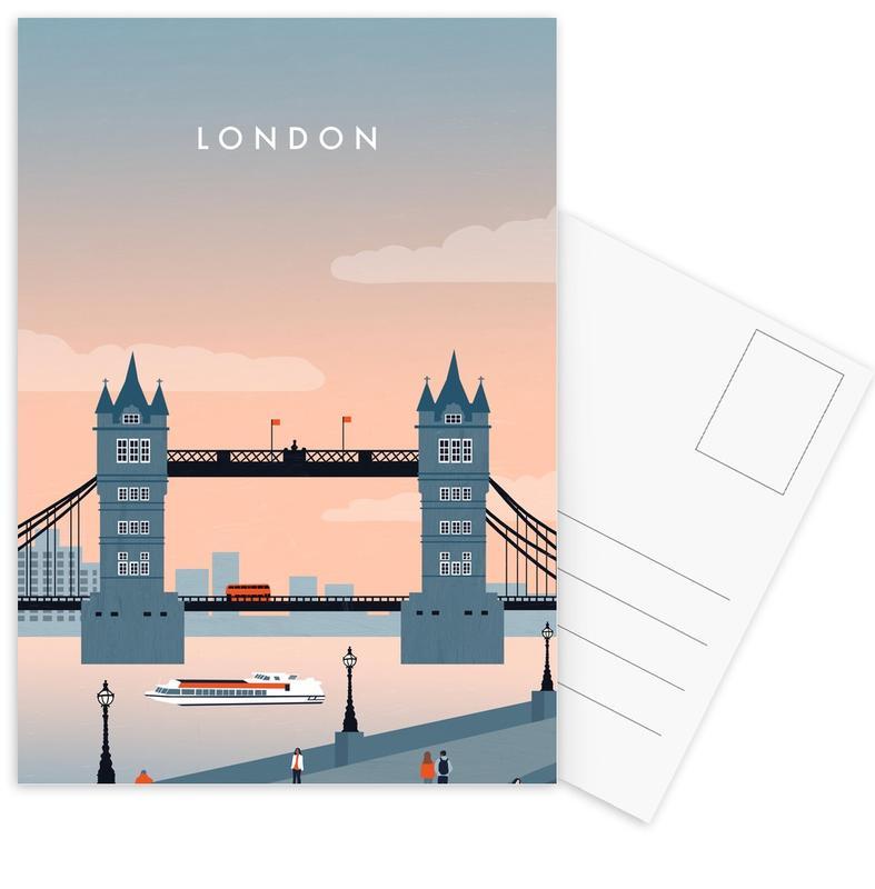 Travel, Vintage Travel, London Postcard Set