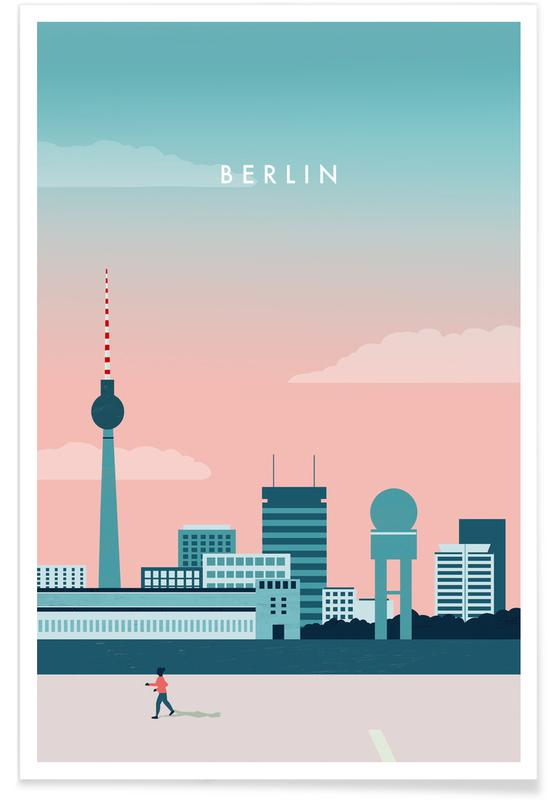 Vintage voyage, Voyages, Berlin affiche