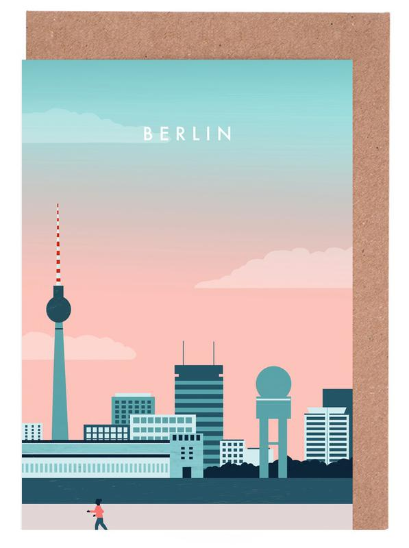 Vintage Travel, Travel, Berlin Greeting Card Set