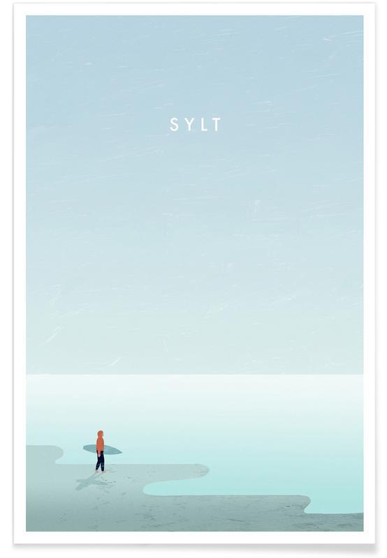 Vintage voyage, Voyages, Sylt - Rétro affiche