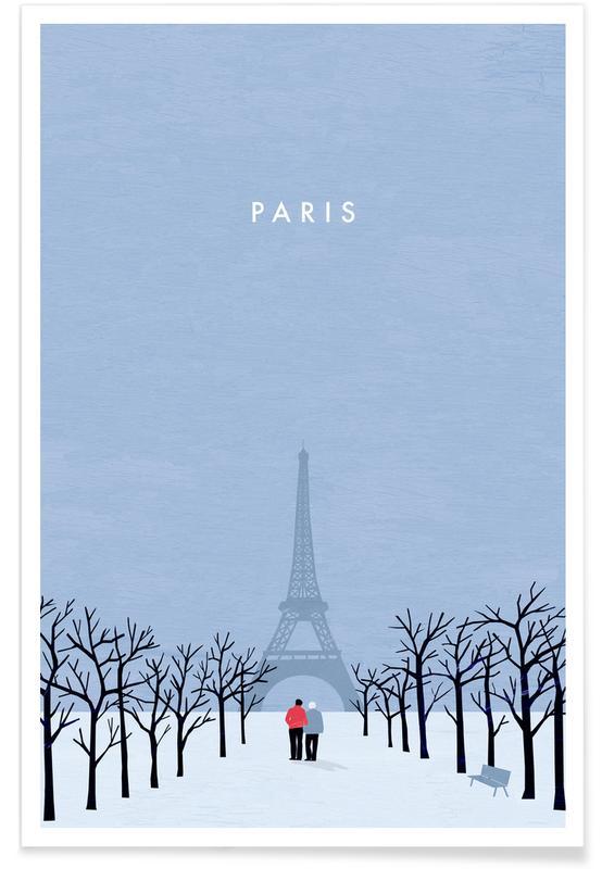 Reise, Vintage Reise, Retro-Paris -Poster