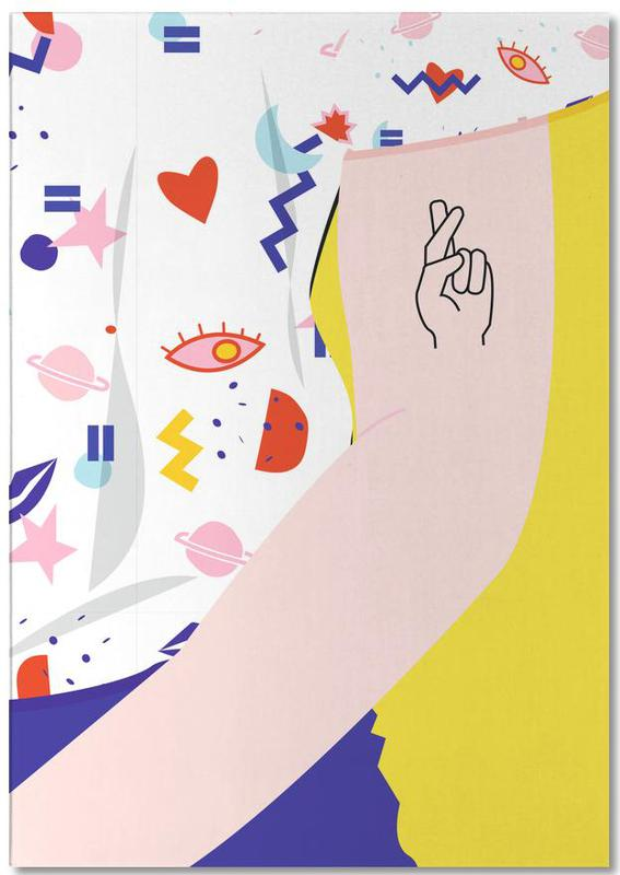 Body Close-Ups, Crossed Fingers Notepad