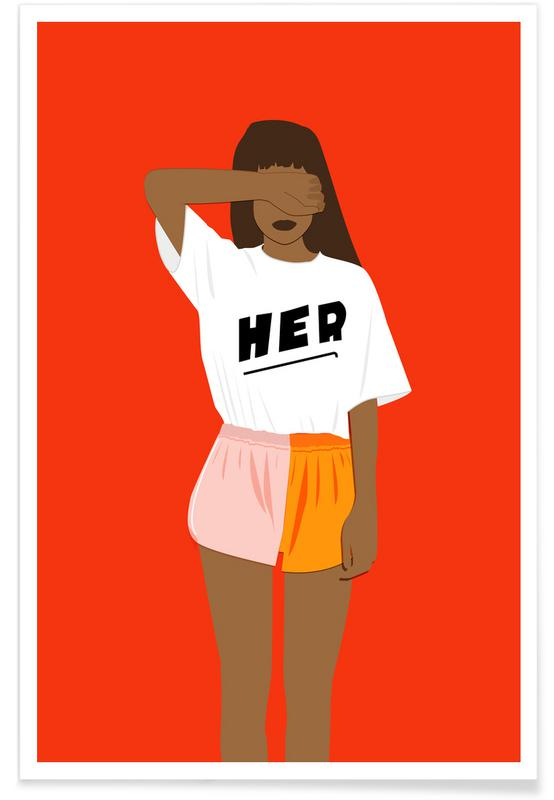 Modeillustration, Her III -Poster