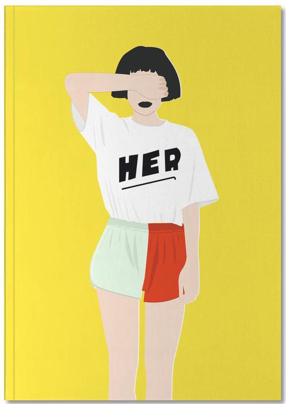 Modeillustration, Her IV Notebook