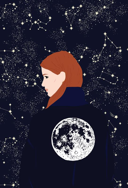 Back to the Moon -Acrylglasbild