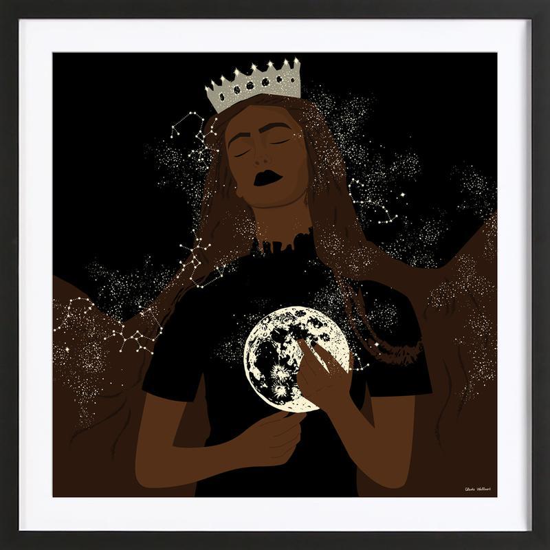 The Moon Queen affiche sous cadre en bois