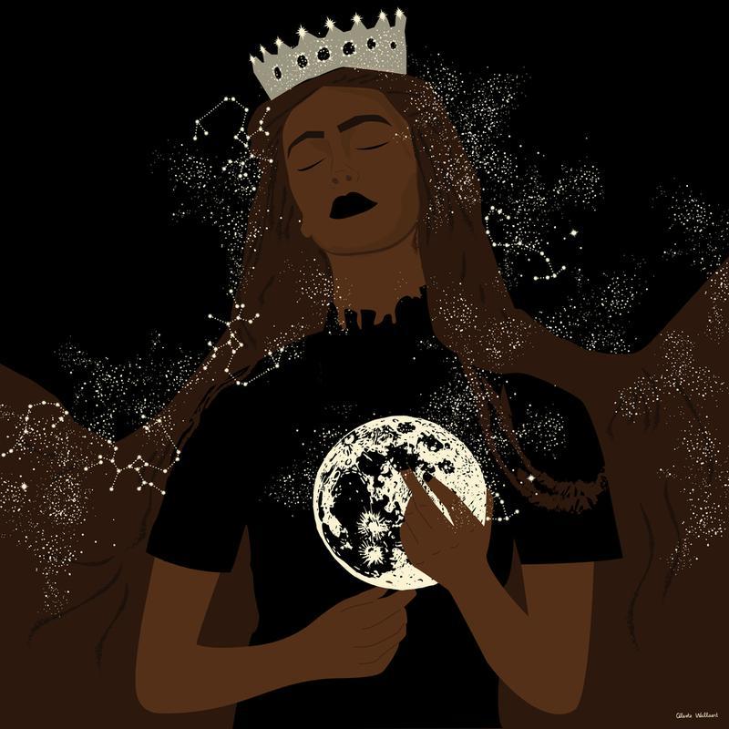 The Moon Queen alu dibond
