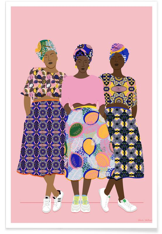 Mode illustrationer, Grupper, Grlz Band Plakat