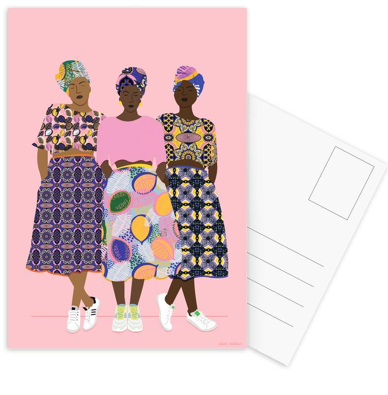 Mode-illustratie, Groepen, Grlz Band ansichtkaartenset