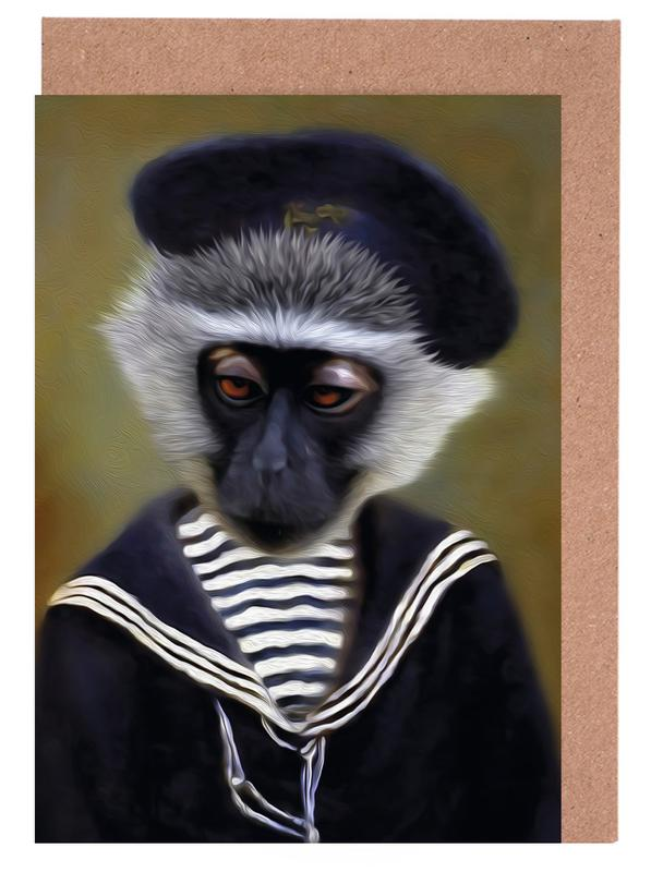 The Sad Monkey Greeting Card Set