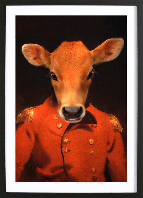 Marty Moo Framed Print