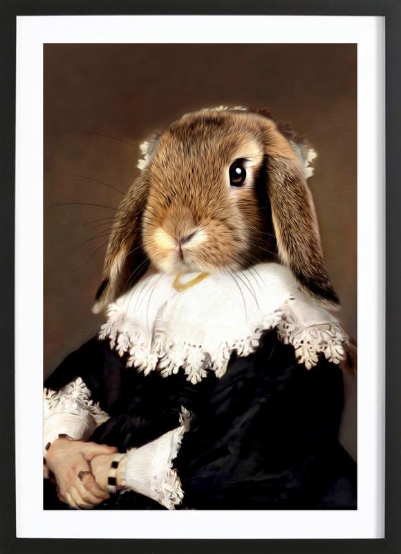 Miss Bunny Rabbit ingelijste print