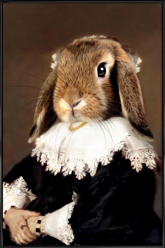Miss Bunny Rabbit Framed Poster