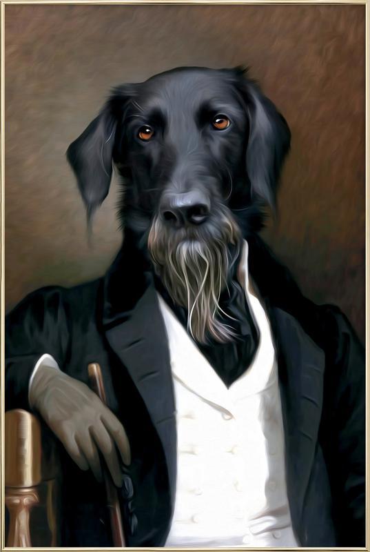 Einstein Beard -Poster im Alurahmen