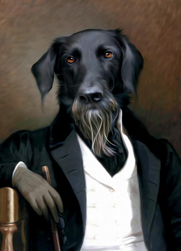 Einstein Beard -Leinwandbild