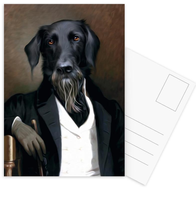 Einstein Beard Postcard Set