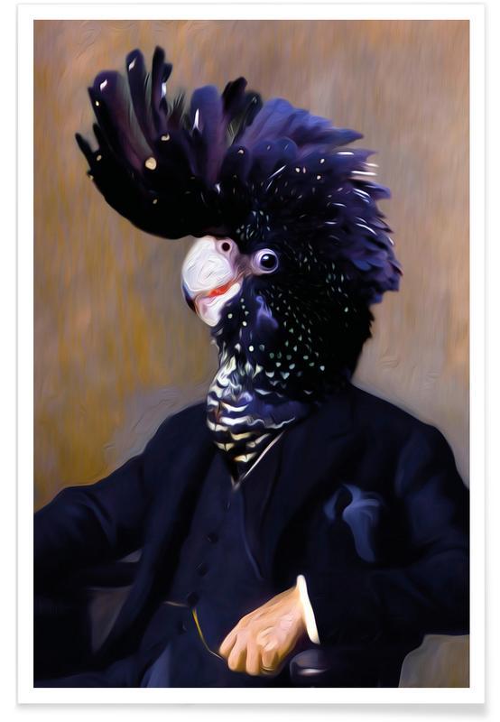Papageien, Elvis -Poster