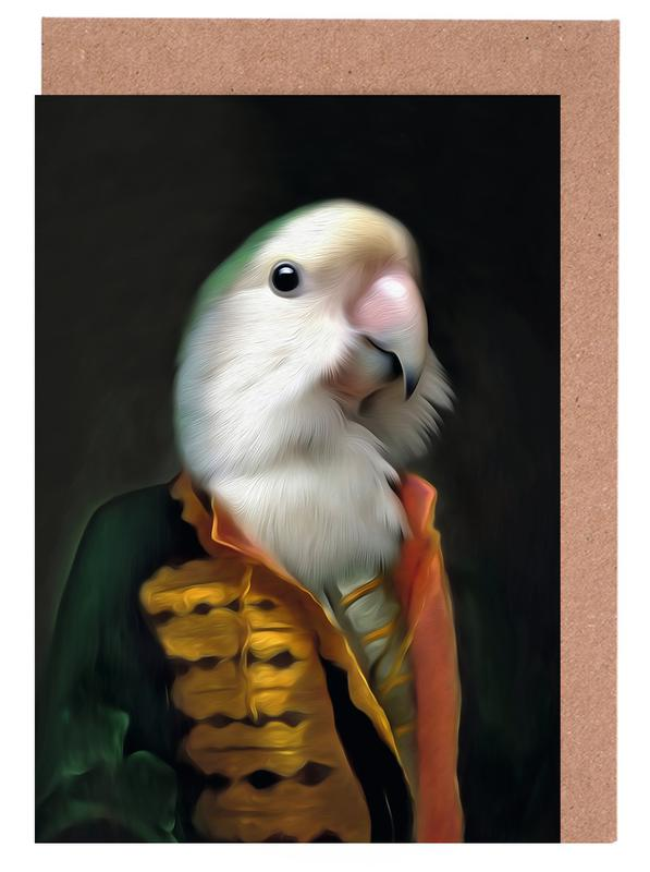Perroquets, Papagaai Daan cartes de vœux