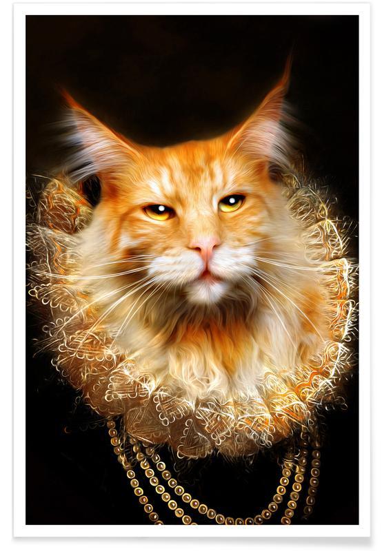 Katzen, Arrow -Poster