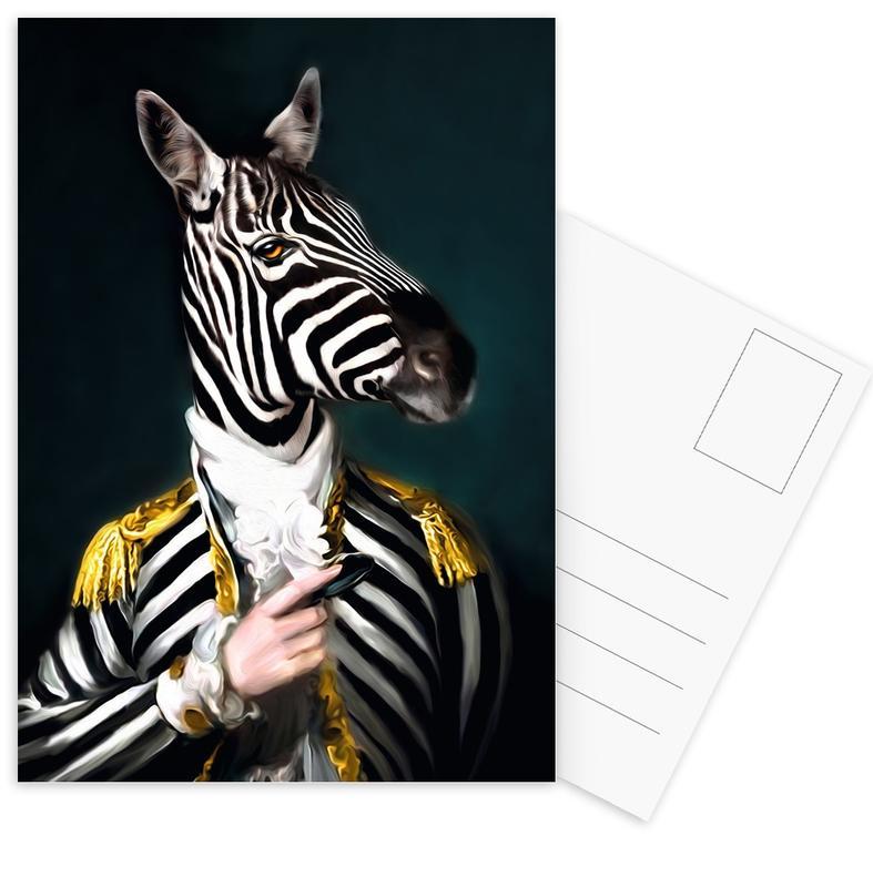 Zebras, Mister Stripe -Postkartenset
