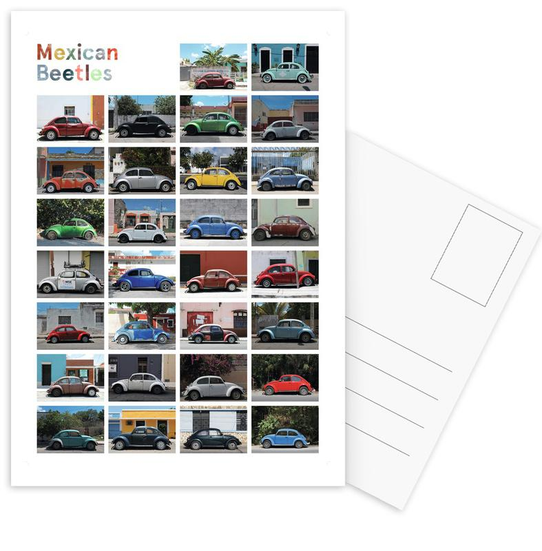 Mexican Beetle Poster Postcard Set