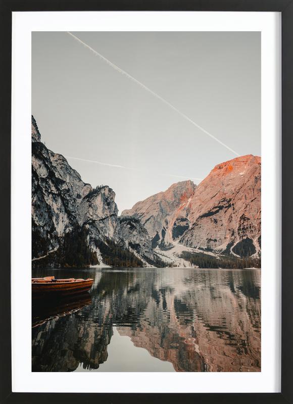 Reflections -Bild mit Holzrahmen